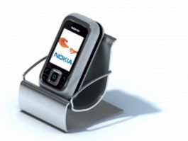 Desktop mobile phone holder 3d preview