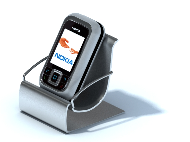 Desktop mobile phone holder 3d rendering