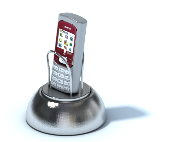 Magnetic phone holder 3d rendering