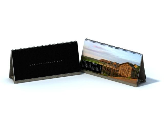Printable paper desk calendars 3d rendering