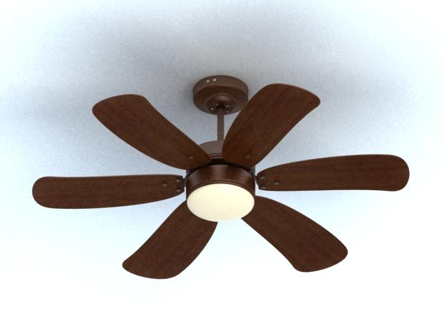 Ceiling mounted fan 3d rendering