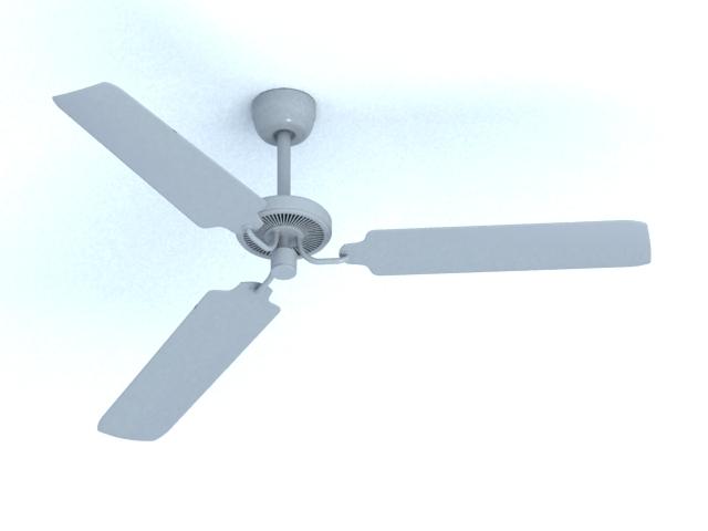 Electric ceiling fan 3d rendering