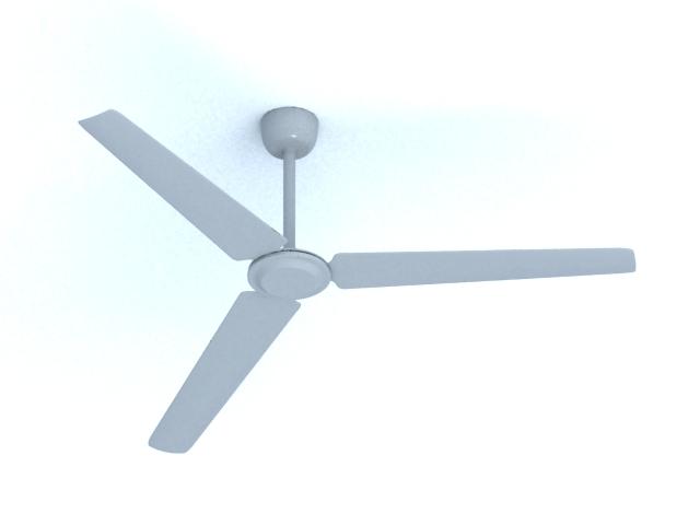 Industrial ceiling fan 3d rendering