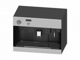 Commercial coffee machine 3d model preview