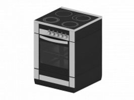 Electric oven stove 3d preview