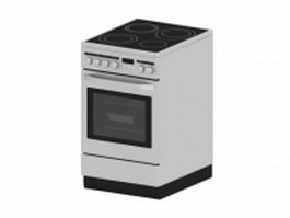 Electric oven with induction stove 3d preview