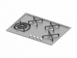 Mutilple gas and electric cooktop 3d preview