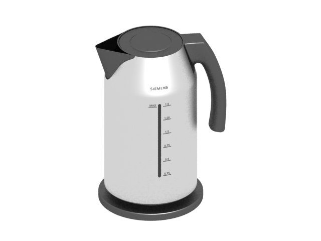Siemens automatic stainless steel electric kettle 3d rendering