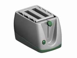 Stainless steel bread toaster 3d model preview