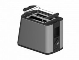 2-slice electric toaster 3d preview