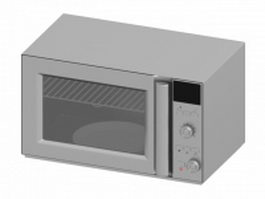 Led display microwave oven 3d preview