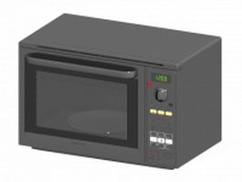 Touch control microwave oven 3d preview