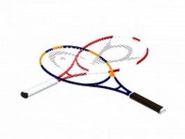 Carbon fiber tennis rackets 3d preview