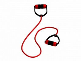 Latex resistance band 3d model preview