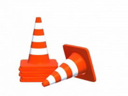 Traffic road cone 3d preview