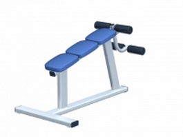 Fitness abdominal bench 3d model preview