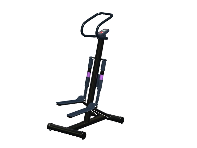 Fitness stepper with handle 3d rendering