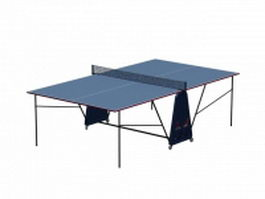 Table tennis table and rackets 3d preview