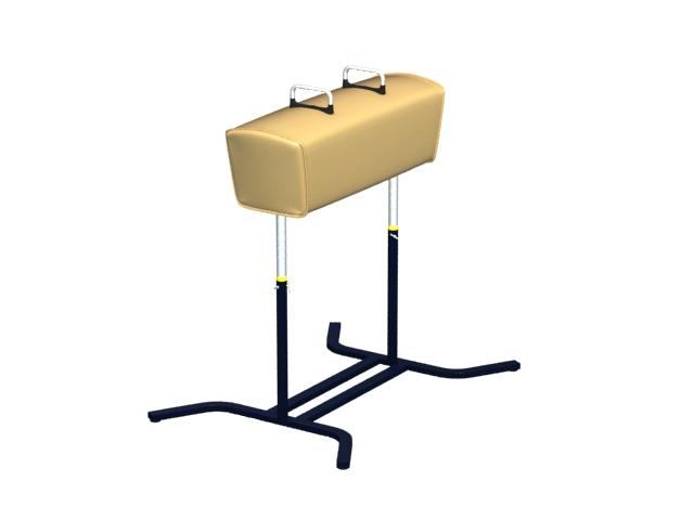 Gymnastic pommel horse 3d rendering
