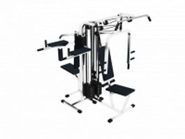 Multi gym exercise equipment 3d model preview