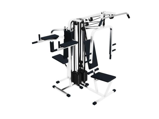 Multi Gym Exercise Equipment 3d Model Cadnav