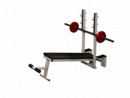 Weight bench with leg exercise attachment 3d preview