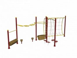 Playground outdoor playset 3d model preview