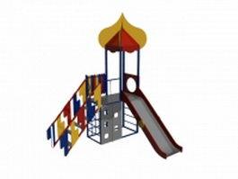 Children playground slide 3d preview