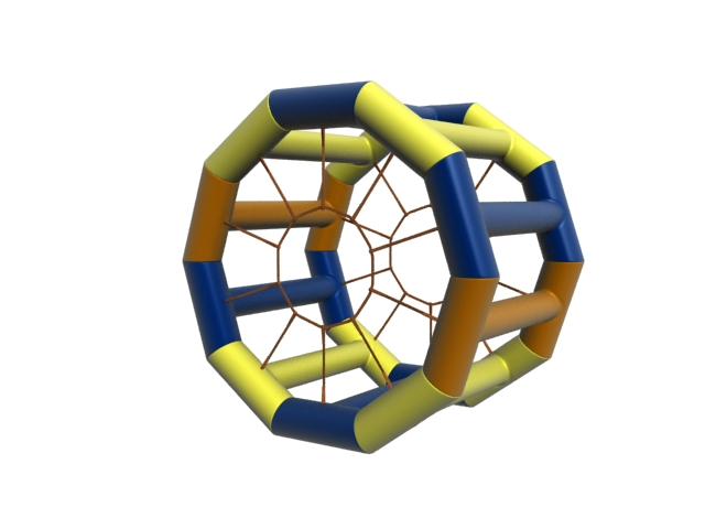 Inflatable climbing frame 3d rendering