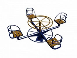 Playground roundabout 3d preview