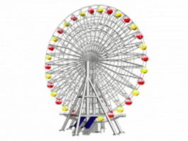 Modern big ferris wheel 3d preview