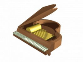 Baby grand piano 3d preview
