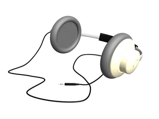 Studio headphone 3d rendering