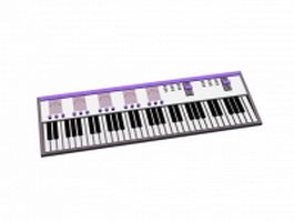 MIDI keyboard 3d preview