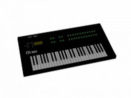 Yamaha DX-100 keyboard 3d model preview
