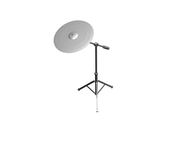 Crash cymbal 3d rendering