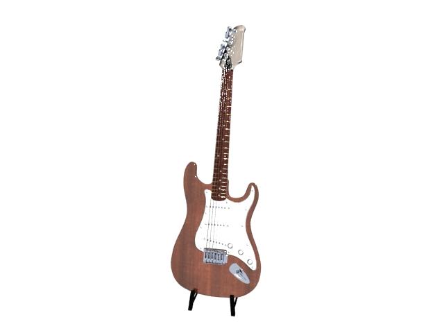 Electric acoustic guitar 3d rendering