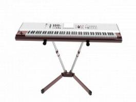 Electronic organ 3d preview