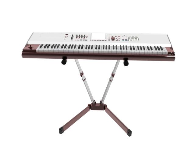 Electronic organ 3d rendering