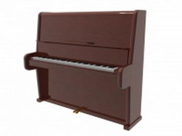 Broadwood upright piano 3d model preview