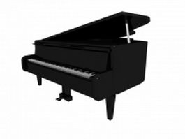Digital grand piano 3d preview