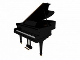 Concert grand piano 3d preview