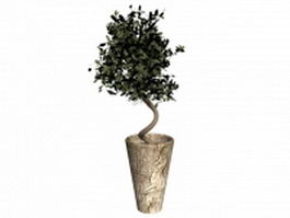 Decorative plant potted tree 3d model preview