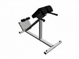 Weight lifting decline bench press 3d preview