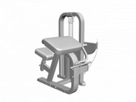 Cable lat pulldown exercise machine 3d model preview