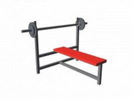 Gym bench press 3d preview