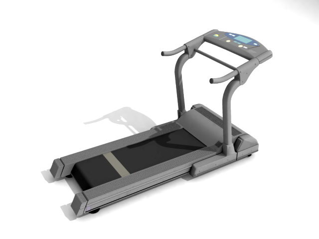 Motorized treadmill 3d rendering