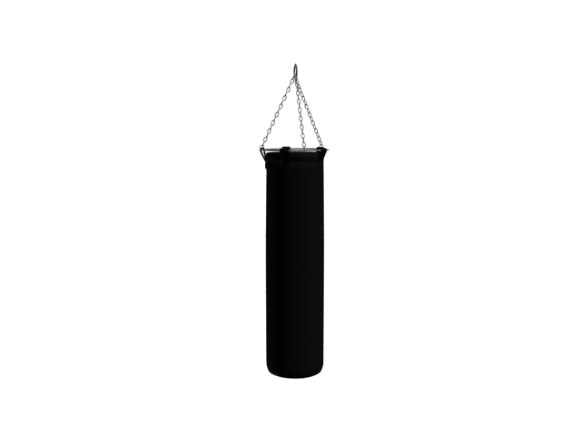 Cylindrical punching bag 3d rendering