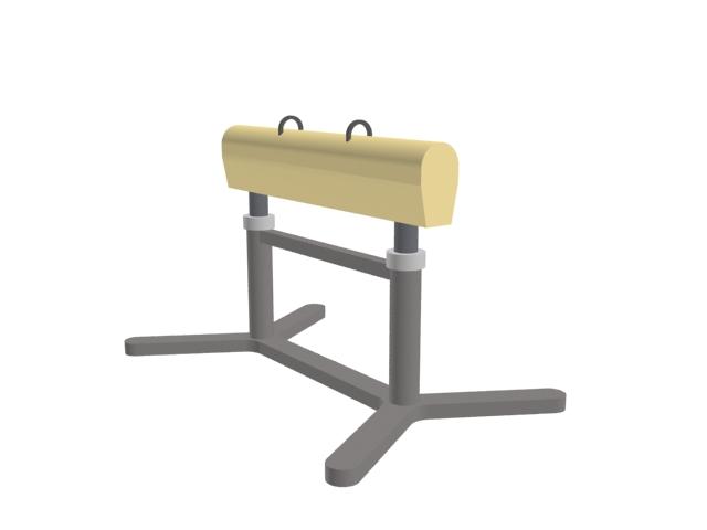 Gymnastics horse 3d rendering