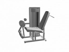 Leg curl cable machine 3d preview